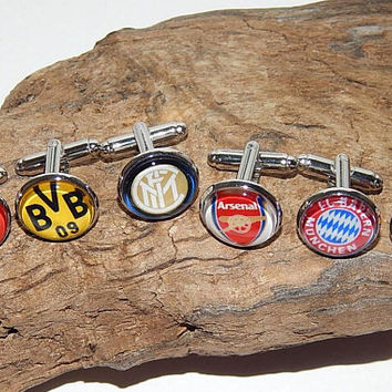 Football logo cufflinks, Football simbol, Football team, FC football teams, Football patch, soccer clubs, soccer team emblem cufflinks