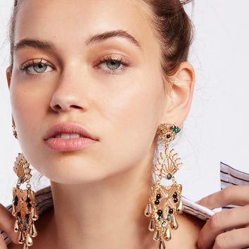 Free People Opalescent Statement Earrings