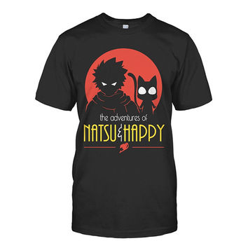 Fairy Tail - The Advantures Of Natsu & Happy - Men Short Sleeve T Shirt - SSID2016
