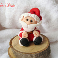 Santa Claus figurine, Christmas decorations, Polymer clay figurine, Christmas miniature, Santa Claus doll, miniature