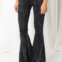 Stone Wash Bell Bottom Pant