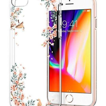 Spigen Liquid Crystal [2nd Generation] Iphone 8 Case / Iphone 7 Case With Slim Protection And Premium Clarity For Apple Iphone 8 (2017) / Iphone 7 (2016) Blossom Nature