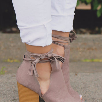 Cut to the Chase Booties - Taupe