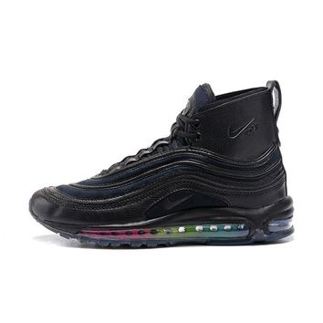 Best Deal Online Riccardo Tisci RT x Nike Air Max 97 Mid Men Sports Shoes Black Rainbow