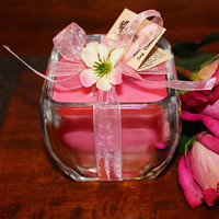 Fresh Cut Roses Natural Soy Candle. Soy blend with High Quality Fresh Cut Roses Fragrance