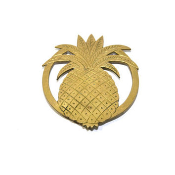 Brass Pineapple Trivet Brass Pineapple Hot Plate Pineapple Pot Holder Brass Pineapple Trivets Brass Pineapple Decor