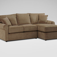 Retreat Sectional with Right Arm Facing Chaise, Maxwell/Nutmeg