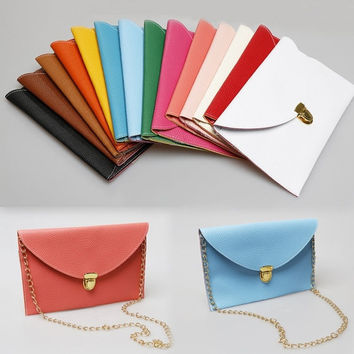 Women Envelope Clutch Lady Chain Purse Handbag Tote Shoulder Case Bag = 1706113668