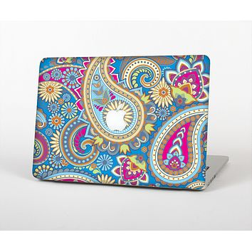 "The Blue & Pink Layered Paisley Pattern V3 Skin Set for the Apple MacBook Pro 15"" with Retina Display"