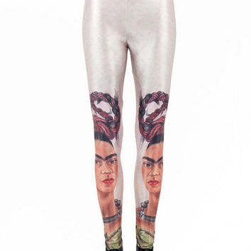 Frida Kahlo Print Leggings Digital Print Tight Yoga Leggings