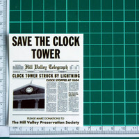 Save The Clock Tower Back To The Future Sticker Decal
