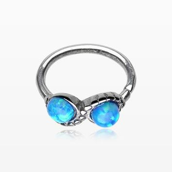 Fire Opal Infinity Bendable Twist Loop Ring