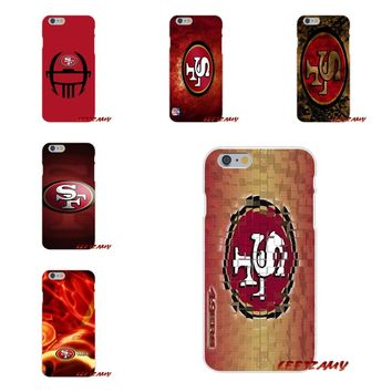 For Motorola Moto G LG Spirit G2 G3 Mini G4 G5 K4 K7 K8 K10 V10 V20 V30 San Francisco 49ers Logo Soft Phone Case Silicone