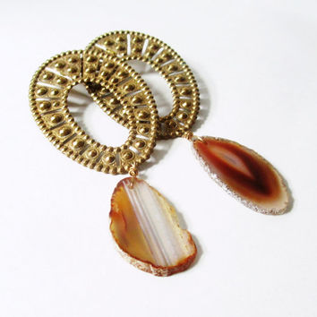 Agate Statement Earrings. Songs of Marrakesh