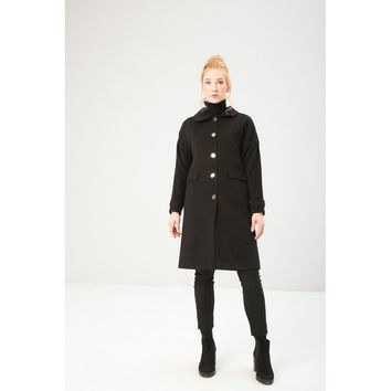 Fontana 2.0 Hip Length Black Coat