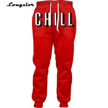 Netflix and Chill Joggers Women Casual Pants Men Unisex Jogger Sweatpants Full Length 3d Printed Trousers Fashion Clothing LP34