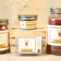 Cappuccino Scented Candle, Cappuccino Scented Wax Tarts, 26 oz, 12 oz, 4 oz Jar Candles or 3.5 Clam Shell Wax Melts