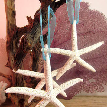 Beach Decor Cheerful Starfish Coastal Christmas Ornaments