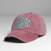 CURSIVE MONOGRAM CAP - Hats - Womens