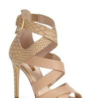 "Women's GUESS 'Abby' Strappy Sandal, 4 1/2"" heel"
