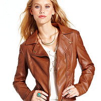 American Rag Jacket, Quilted Moto Jacket - Juniors Jackets & Vests - Macy's