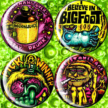 """MEDIUM 2.25"""" BLITZKRIEG BUTTONS - DELUXE SNOTTY SAYINGS - M39"""