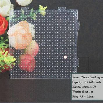 free shipping 2.6mm small Square pegboards for hama beads perler beads DIY educational toy PUPUKOU