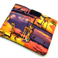 Hand Crafted Tablet Case from Giraffe Fabric/Case for:iPad,Kindle Fire HDX,Samsung Galaxy Tab, Google Nexus, iPad Air, Nook HD