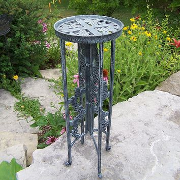 Oakland Living Grapes Plant Stand - Outdoor (Green- Grey)