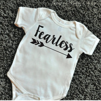 Hipster Baby Clothes Fearless Shirt Baby Girl Clothes Baby Shower Gift Arrow Bodysuit Hipster Baby Clothes 079