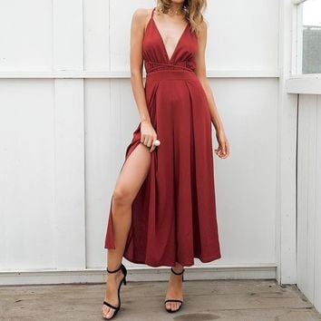 Elnora Wide Leg Summer Jumpsuit