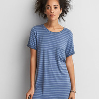 AEO SOFT & SEXY ROLLED SLEEVE T-SHIRT DRESS