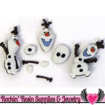 DISNEY FROZEN OLAF Licensed Dress It Up Jesse James Buttons and Flatback Cabochons