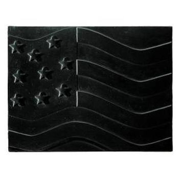 "American Flag Cast Iron Heat Reflective 24"" Fireplace Fireback"