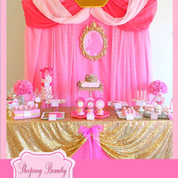 PRINCESS Birthday Party - Portraits - Princess Party - Disney Princess Party - Princess Wall Plaque - Decorations - INSTANT DOWNLOAD