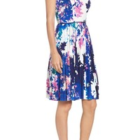 Maggy London Stretch Fit & Flare Dress (Regular & Petite)   Nordstrom