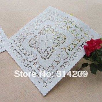 Arriving    Create  Craft      White  Square  Paper  Doilie