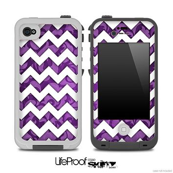 Purple Paisley and White Chevron Pattern for the iPhone 5 or 4/4s LifeProof Case