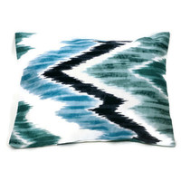 Aromatherapy Herbal Dream Pillow - Aqua Chevron - (Blends Available: Restful, Peaceful, Romantic, or Creativity)
