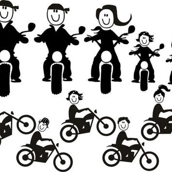 Motorcycle Riding Stick Family!