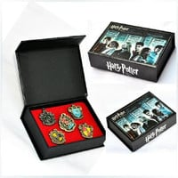 Harry Potter RAVENCTAW Brooch Pin Set 5pcs Wooden Box