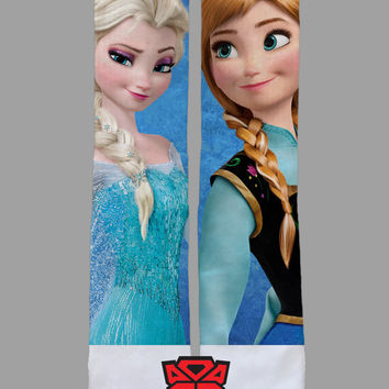 Frozen - Anna and Elsa - Custom Socks - Socktimus Prime