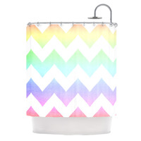 "Catherine McDonald ""Water Color"" Chevron Shower Curtain"