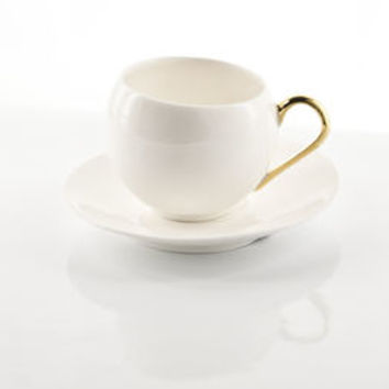 Cup With Gold Or Platinum Handle