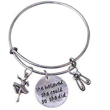Dance She Believed She Could So She Did Bangle Bracelet