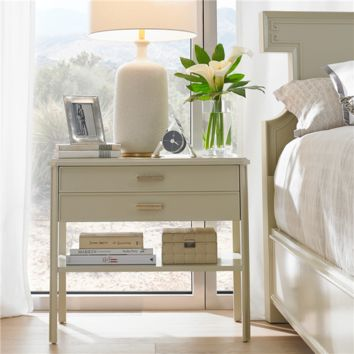 Stanley Furniture Crestaire Southridge Capiz Bedside Table