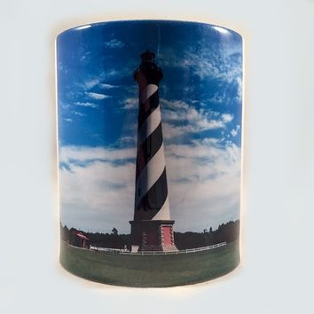 Coin Bank, Ceramic, Cape Hatteras Lighthouse Design
