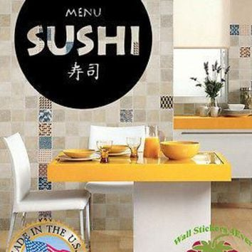 Wall Stickers Vinyl Decal  Food Business Sushi Japan Japanese Kitchen Unique Gift z633