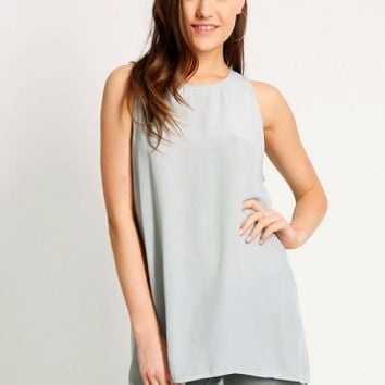 Highfield Tunic Top In Green