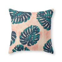 "Society6 CALIFORNIA TROPICALIA Throw Pillow Indoor Cover (18"" x 18"")"